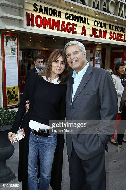 Actress Emmanuelle Bach and Actor Jean Sorel attend the Tribute to French Actor Jean Sorel at Mac Mahon Cinema on September 25 2016 in Paris France
