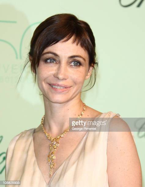 Actress Emmanuelle Beart attends the Chopard 150th Anniversary Party at the VIP Room Palm Beach during the 63rd Annual International Cannes Film...