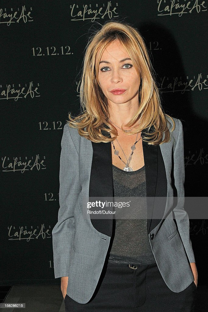 Actress <a gi-track='captionPersonalityLinkClicked' href=/galleries/search?phrase=Emmanuelle+Beart&family=editorial&specificpeople=171374 ng-click='$event.stopPropagation()'>Emmanuelle Beart</a> attends the Galeries Lafayette 100th Anniversary Bal on December 12, 2012 in Paris, France.