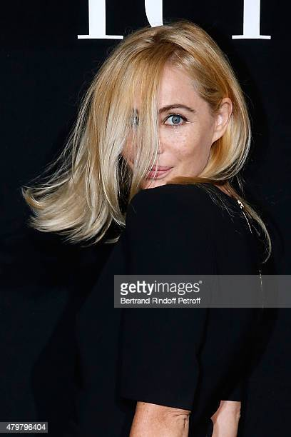Actress Emmanuelle Beart attends the Giorgio Armani Prive show as part of Paris Fashion Week HauteCouture Fall/Winter 2015/2016 Held at Palais de...