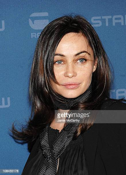 Actress Emmanuelle Beart attends the GStar Fall 2009 Fashion Show at the Hammerstein Ballroom on February 17 2009 in New York City