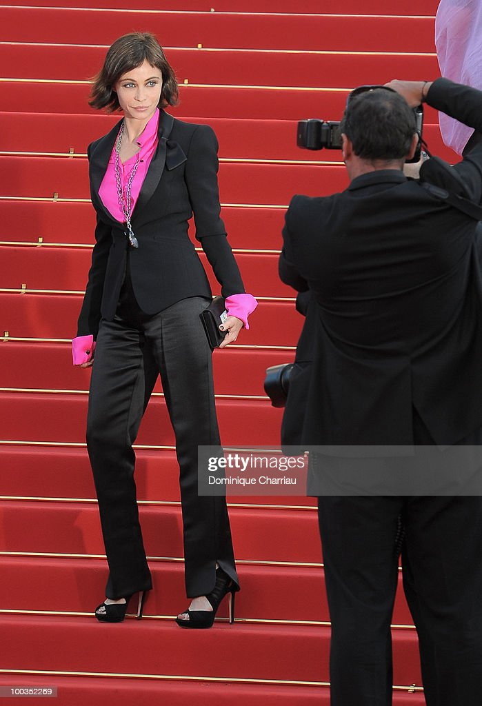 Actress Emmanuelle Beart attends the Palme d'Or Closing Ceremony held at the Palais des Festivals during the 63rd Annual International Cannes Film Festival on May 23, 2010 in Cannes, France.