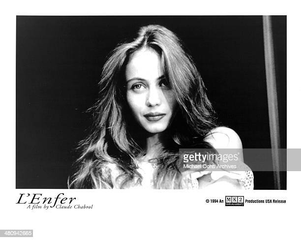 Actress Emmanuelle Beart in a scene from the movie 'L'Enfer' circa 1994