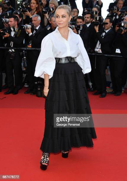 Actress Emmanuelle Beartattends attends the 70th Anniversary screening during the 70th annual Cannes Film Festival at Palais des Festivals on May 23...