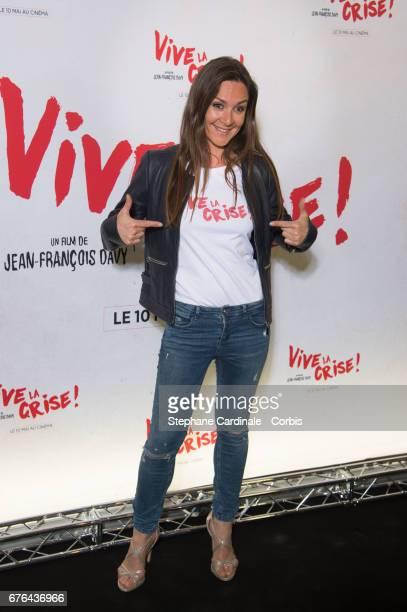 Actress Emmanuelle Boidron attends the 'Vive La Crise' Paris Premiere at Cinema Max Linder on May 2 2017 in Paris France