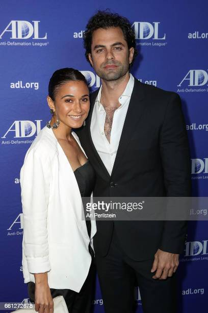 Actress Emmanuelle Chriqui and Gerard Celasco arrives at AntiDefamation League Deborah Awards Dinner at SLS Hotel on March 30 2017 in Beverly Hills...