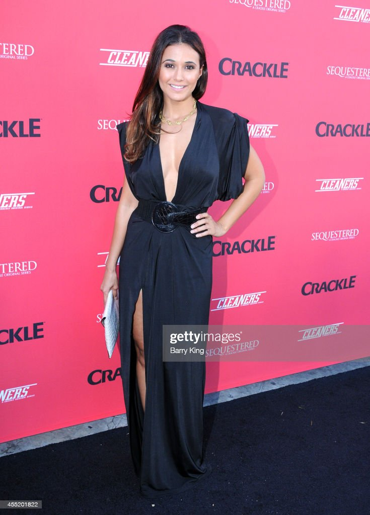 Actress <a gi-track='captionPersonalityLinkClicked' href=/galleries/search?phrase=Emmanuelle+Chriqui&family=editorial&specificpeople=541098 ng-click='$event.stopPropagation()'>Emmanuelle Chriqui</a> arrives at the Crackle Original Series' 'Cleaners' and 'Sequestered' Summer premiere celebration at 1 OAK on August 14, 2014 in West Hollywood, California.