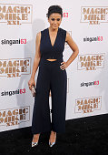 Actress Emmanuelle Chriqui arrives at the Los Angeles World Premiere of Warner Bros Pictures' 'Magic Mike XXL' at TCL Chinese Theatre IMAX on June 25...