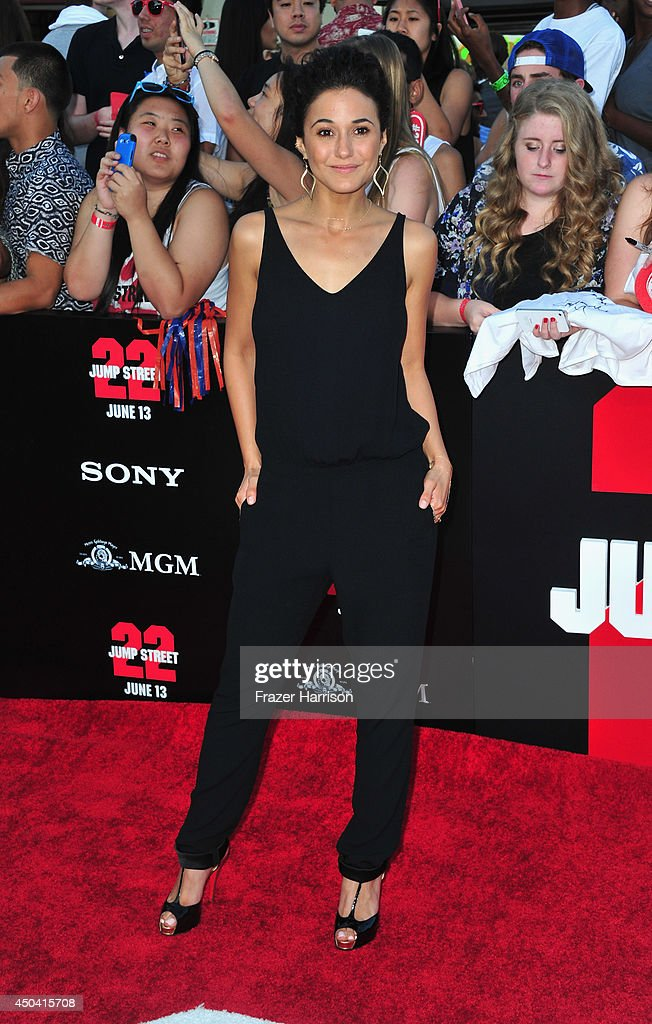 Actress <a gi-track='captionPersonalityLinkClicked' href=/galleries/search?phrase=Emmanuelle+Chriqui&family=editorial&specificpeople=541098 ng-click='$event.stopPropagation()'>Emmanuelle Chriqui</a> arrives at the Premiere Of Columbia Pictures' '22 Jump Street' at Regency Village Theatre on June 10, 2014 in Westwood, California.