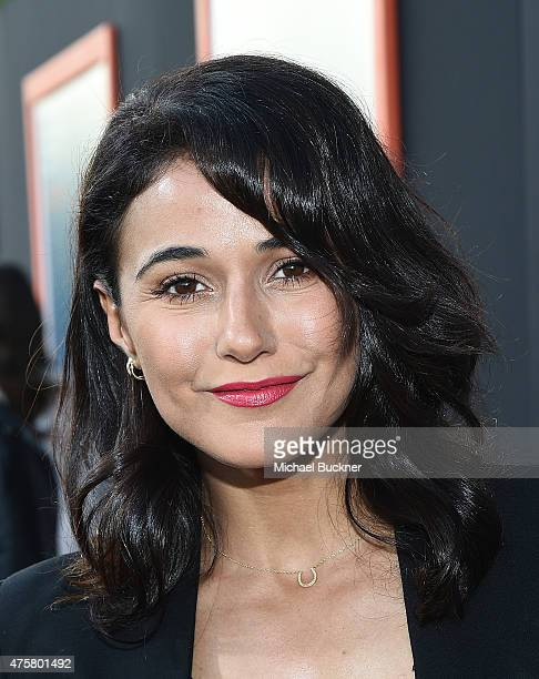 Actress Emmanuelle Chriqui arrives at the premiere of Fox Searchlight Pictures' 'Me And Earl And The Dying Girl' at the Harmony Gold Theatre on June...