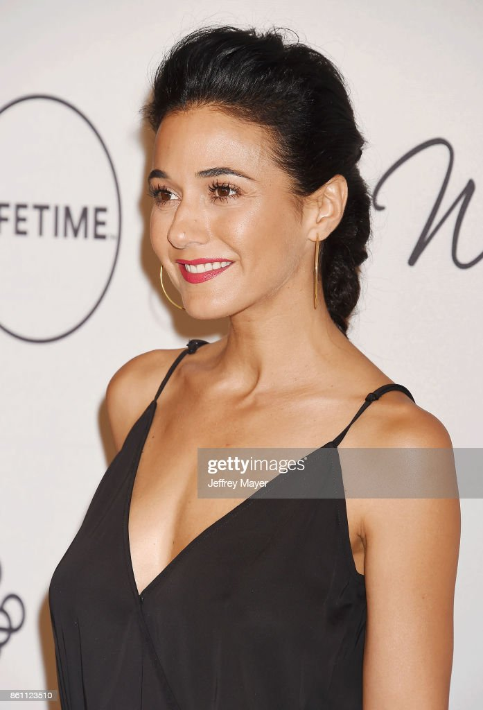 Actress Emmanuelle Chriqui arrives at the Variety's Power Of Women: Los Angeles at the Beverly Wilshire Four Seasons Hotel on October 13, 2017 in Beverly Hills, California.