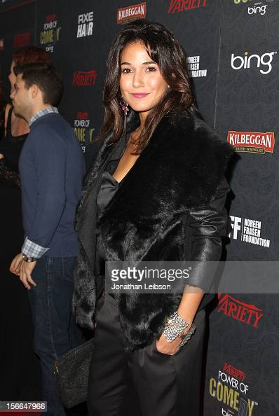 Actress Emmanuelle Chriqui arrives at Variety's 3rd annual Power of Comedy event presented by Bing benefiting the Noreen Fraser Foundation held at...