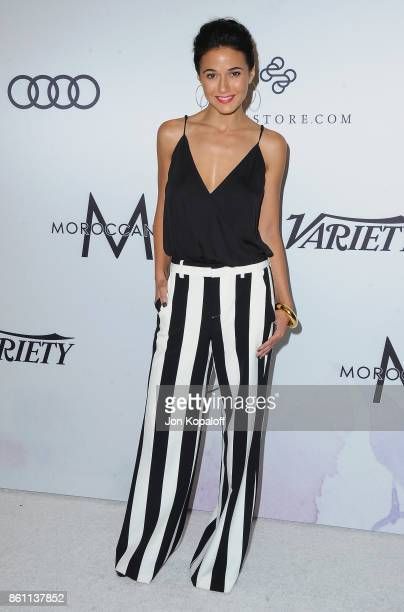 Actress Emmanuelle Chriqui arrives at Variety's Power Of Women Los Angeles at the Beverly Wilshire Four Seasons Hotel on October 13 2017 in Beverly...