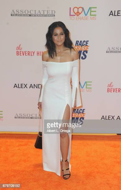 Actress Emmanuelle Chriqui arrives for the 24th Annual Race To Erase MS Gala held at The Beverly Hilton Hotel on May 5 2017 in Beverly Hills...