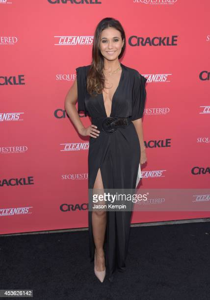 Actress Emmanuelle Chriqui attends Crackle's Summer Premieres Event Celebrating The Launch Of 'Sequestered' And 'Cleaners' Season 2 at 1 OAK on...