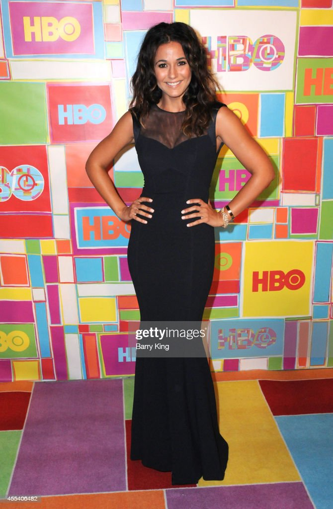 Actress Emmanuelle Chriqui attends HBO's 2014 Emmy after party at The Plaza at the Pacific Design Center on August 25, 2014 in Los Angeles, California.