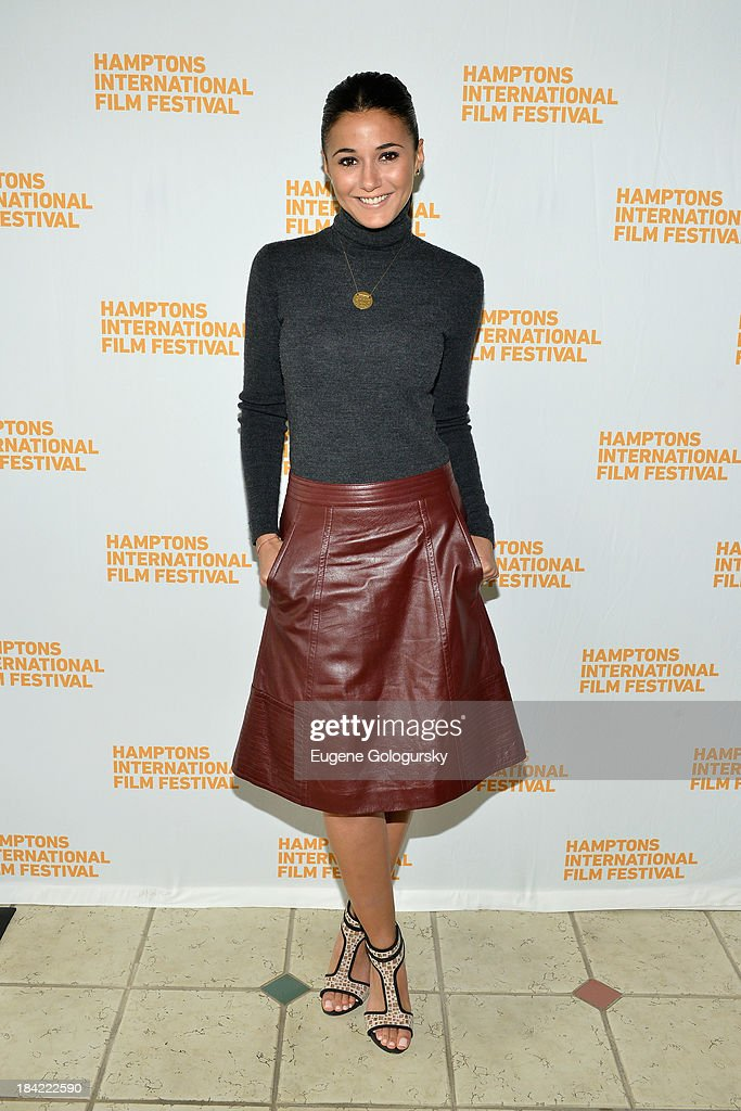 Actress Emmanuelle Chriqui attends the 21st Annual Hamptons International Film Festival on October 12, 2013 in East Hampton, New York.