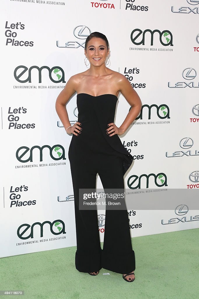 Actress Emmanuelle Chriqui attends the 25th annual EMA Awards presented by Toyota and Lexus and hosted by the Environmental Media Association at Warner Bros. Studios on October 24, 2015 in Burbank, California.
