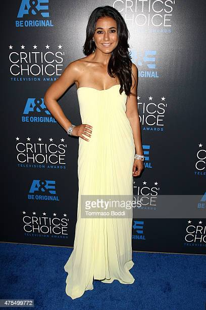 Actress Emmanuelle Chriqui attends the 5th annual Critics' Choice Television Awards at The Beverly Hilton Hotel on May 31 2015 in Beverly Hills...
