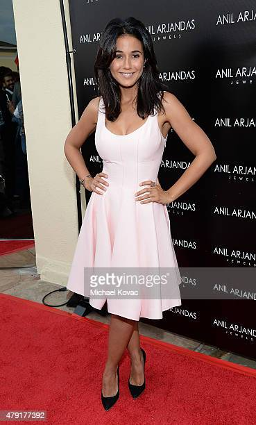 Actress Emmanuelle Chriqui attends the Anil Arjandas Jewels US Flagship Store Opening on July 1 2015 in West Hollywood California