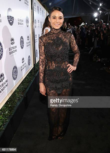 Actress Emmanuelle Chriqui attends The Art of Elysium presents Stevie Wonder's HEAVEN Celebrating the 10th Anniversary at Red Studios on January 7...