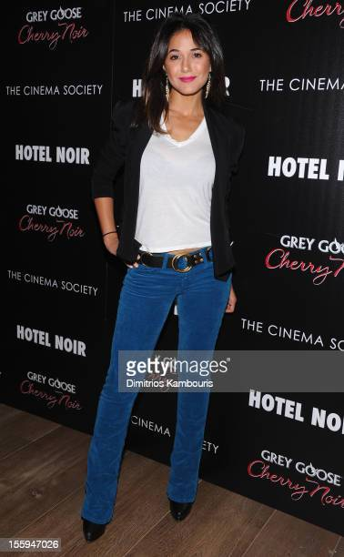 Actress Emmanuelle Chriqui attends the Gato Negro Films The Cinema Society screening of 'Hotel Noir' at Crosby Street Hotel on November 9 2012 in New...