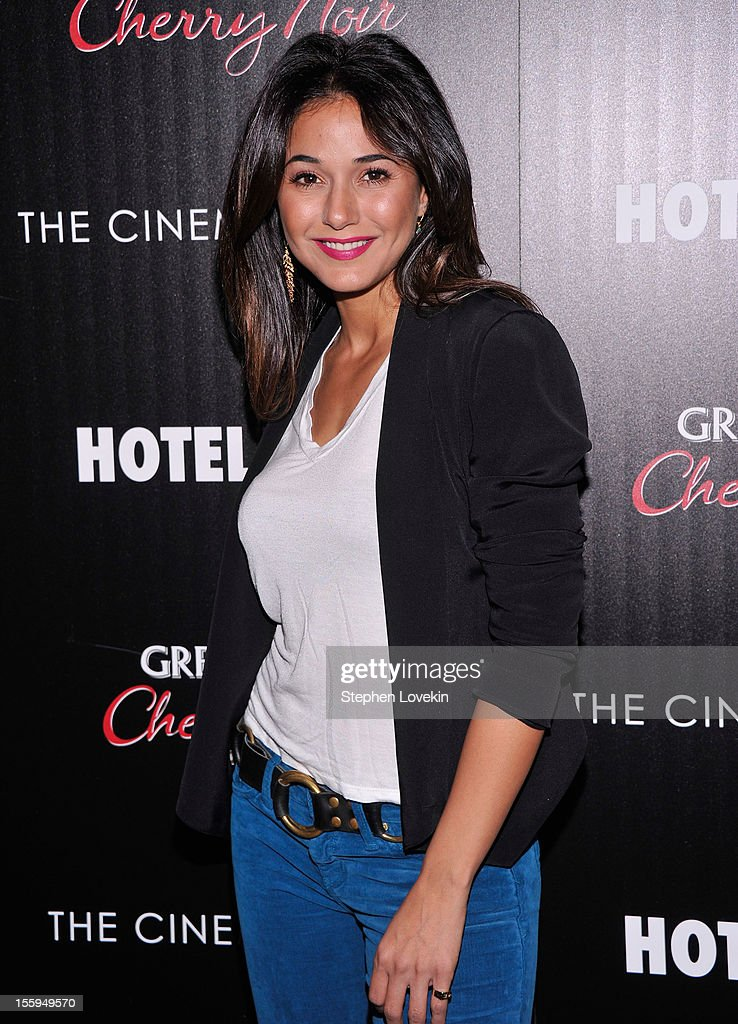 Actress Emmanuelle Chriqui attends the Gato Negro Films & The Cinema Society screening of 'Hotel Noir' at Crosby Street Hotel on November 9, 2012 in New York City.