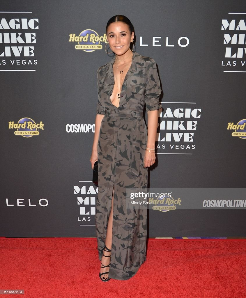 Actress Emmanuelle Chriqui attends the grand opening of 'Magic Mike Live Las Vegas' at the Hard Rock Hotel & Casino on April 21, 2017 in Las Vegas, Nevada.