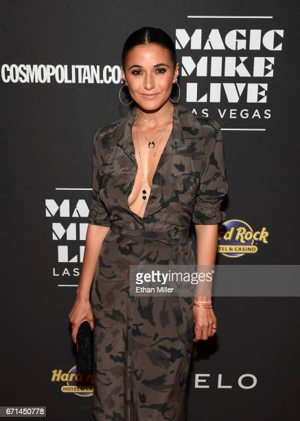Actress Emmanuelle Chriqui attends the grand opening of 'Magic Mike Live Las Vegas' at the Hard Rock Hotel Casino on April 21 2017 in Las Vegas Nevada