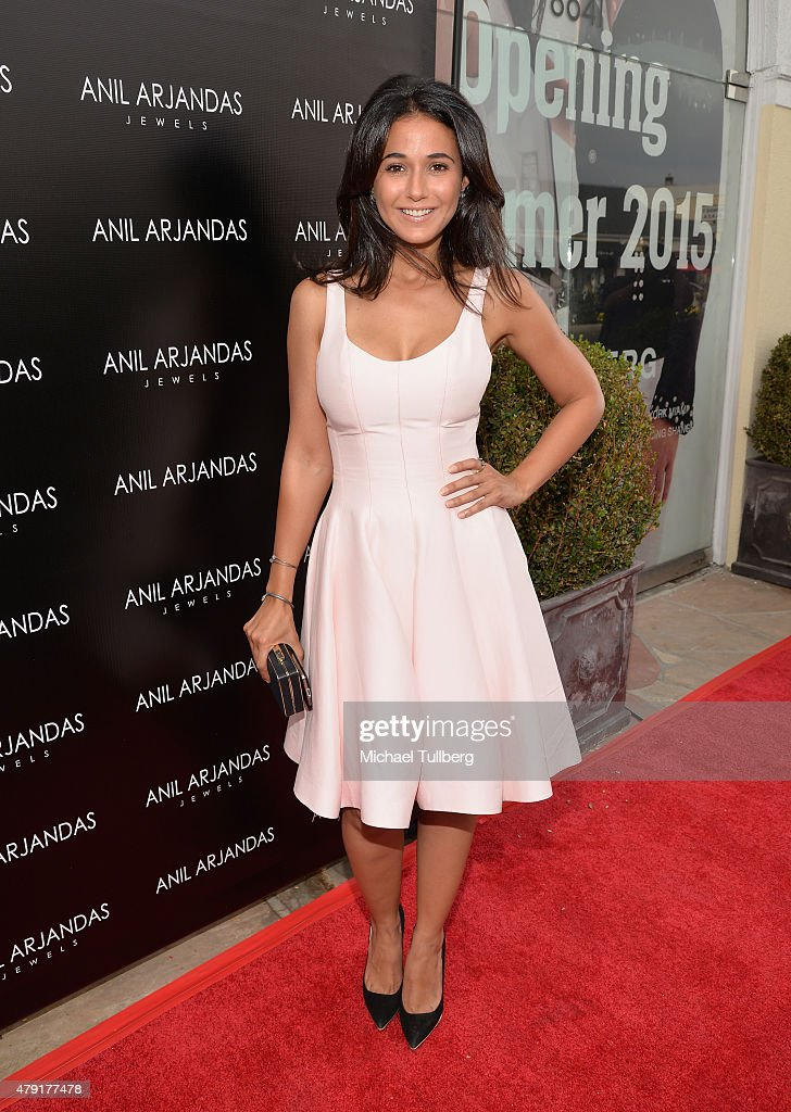 Actress Emmanuelle Chriqui attends the grand opening of the Anil Arjandas Jewels Los Angeles Boutique on July 1 2015 in West Hollywood California