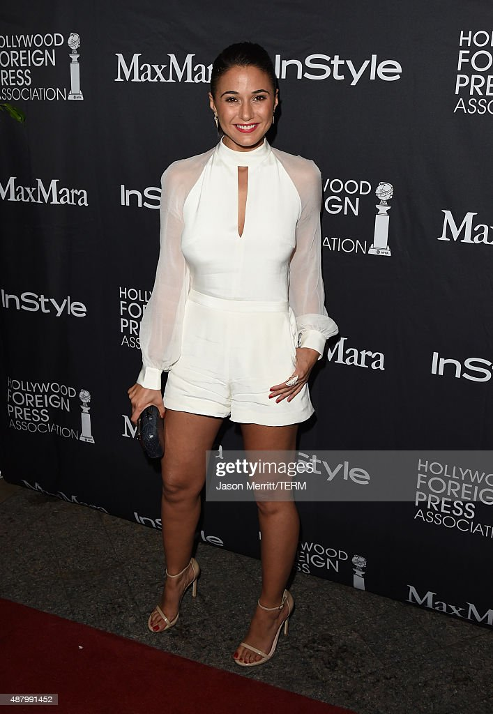 Actress Emmanuelle Chriqui attends the InStyle & HFPA party during the 2015 Toronto International Film Festival at the Windsor Arms Hotel on September 12, 2015 in Toronto, Canada.