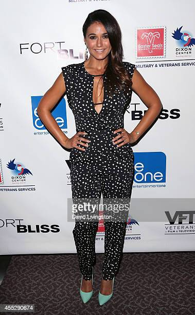 Actress Emmanuelle Chriqui attends the Los Angeles special screening of 'Fort Bliss' at the DGA Theater on September 11 2014 in Los Angeles California