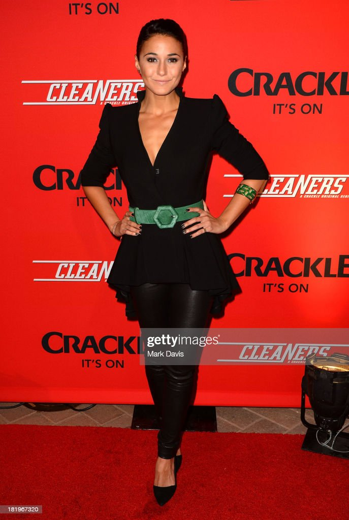Actress <a gi-track='captionPersonalityLinkClicked' href=/galleries/search?phrase=Emmanuelle+Chriqui&family=editorial&specificpeople=541098 ng-click='$event.stopPropagation()'>Emmanuelle Chriqui</a> attends the premiere of Crackle's new original digital series 'Cleaners' held at the Cary Grant Theater on September 26, 2013 in Culver City, California.