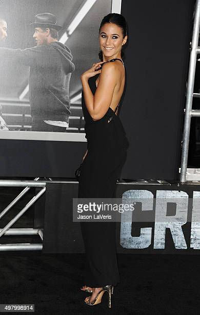 Actress Emmanuelle Chriqui attends the premiere of 'Creed' at Regency Village Theatre on November 19 2015 in Westwood California