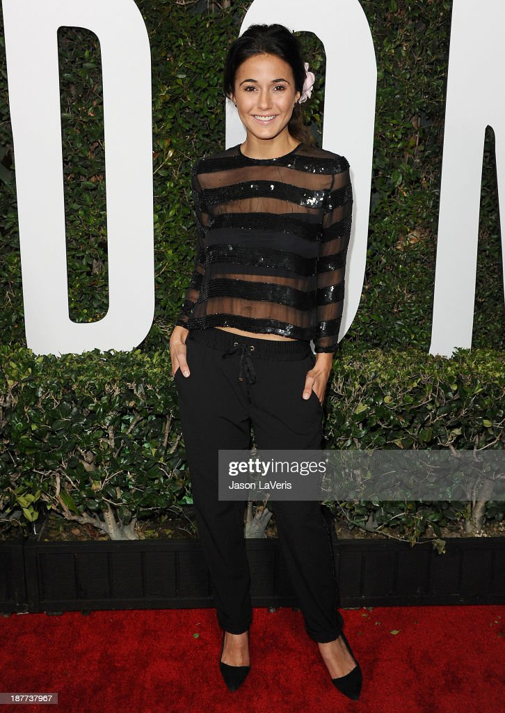 Actress <a gi-track='captionPersonalityLinkClicked' href=/galleries/search?phrase=Emmanuelle+Chriqui&family=editorial&specificpeople=541098 ng-click='$event.stopPropagation()'>Emmanuelle Chriqui</a> attends the premiere of 'Mandela: Long Walk To Freedom' at ArcLight Cinemas Cinerama Dome on November 11, 2013 in Hollywood, California.