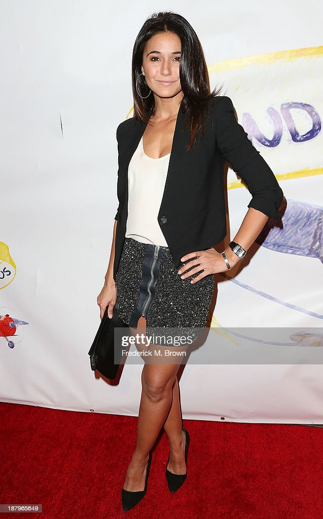 Actress Emmanuelle Chriqui attends the 'Stand Up For Gus' Benefit at Bootsy Bellows on November 13, 2013 in West Hollywood, California.