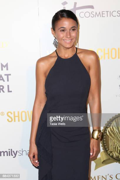 Actress Emmanuelle Chriqui attends the Women's Choice Award Show at Avalon Hollywood on May 17 2017 in Los Angeles California