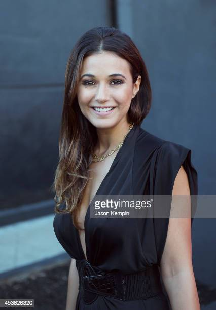 Actress Emmanuelle Chriqui poses for a portrait at the The Launch Of 'Sequestered' And 'Cleaners' Season 2 on August 14 2014 in West Hollywood...