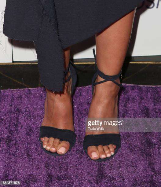 Actress Emmanuelle Chriqui shoe detail attends the Women's Choice Award Show at Avalon Hollywood on May 17 2017 in Los Angeles California