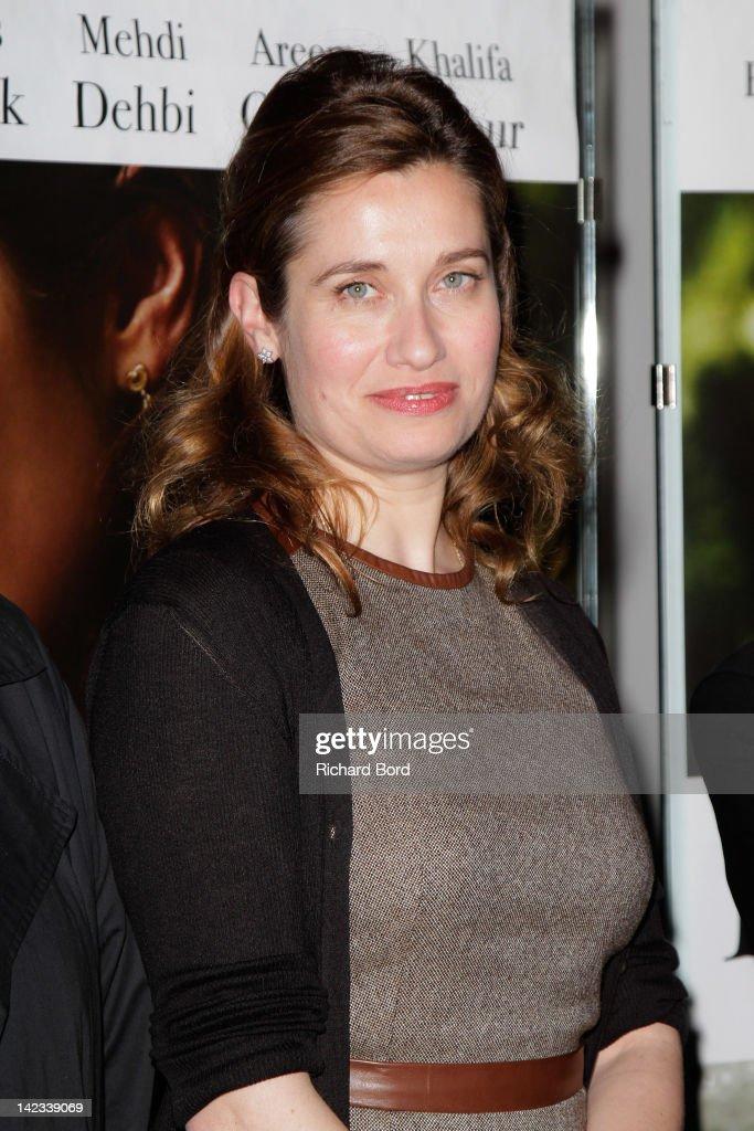 Actress <a gi-track='captionPersonalityLinkClicked' href=/galleries/search?phrase=Emmanuelle+Devos&family=editorial&specificpeople=220367 ng-click='$event.stopPropagation()'>Emmanuelle Devos</a> attends the 'Le Fils De L'Autre' Paris premiere at UGC Cine Cite des Halles on April 2, 2012 in Paris, France.