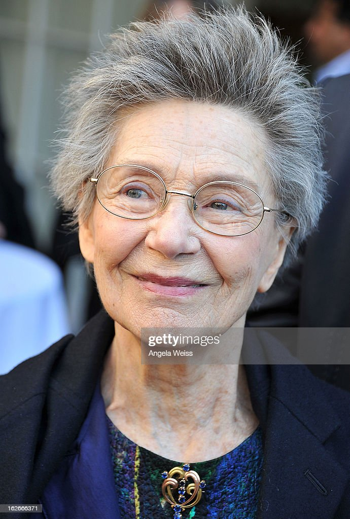 Actress Emmanuelle Riva attends an event hosted by the Consul General Of France, Mr. Axel Cruau, honoring the French nominees for the 85th Annual Academy Awards at French Consulate's Home on February 25, 2013 in Beverly Hills, California.