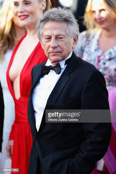 Actress Emmanuelle Seigner and director Roman Polanski attend the 'La Venus A La Fourrure' premiere during The 66th Annual Cannes Film Festival at...