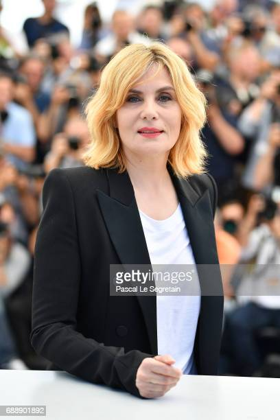 Actress Emmanuelle Seigner attends the 'Based On A True Story' photocall during the 70th annual Cannes Film Festival at Palais des Festivals on May...