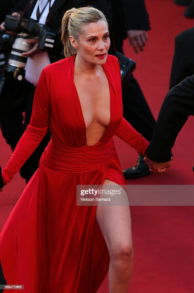 Actress Emmanuelle Seigner attends the 'La Venus A La Fourrure' premiere during The 66th Annual Cannes Film Festival at Theatre Lumiere on May 25, 2013 in Cannes, France.