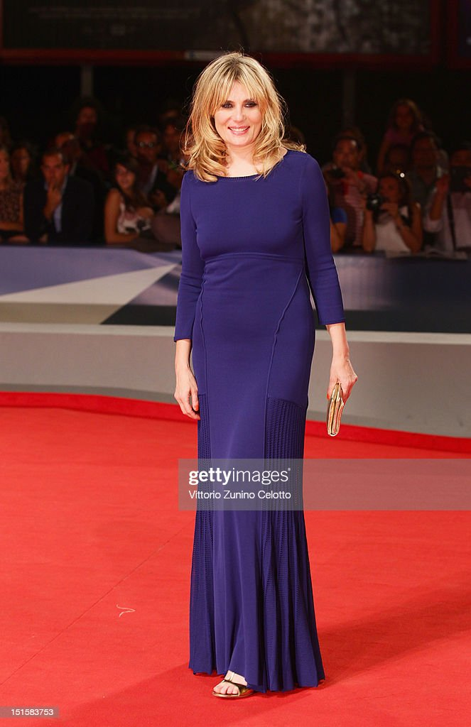 Actress Emmanuelle Seigner attends the 'L'Homme Qui Rit' Premiere during the 69th Venice Film Festival at the Palazzo del Cinema on September 8, 2012 in Venice, Italy.