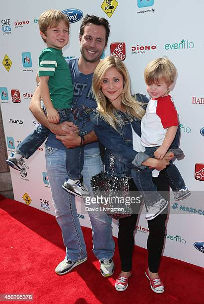 Actress Emme Rylan and family attend Ali Landry's 3rd Annual Red CARpet Safety Awareness event at the Skirball Cultural Center on September 28 2014...