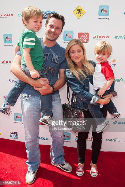 Actress Emme Rylan and family attend Ali Landry's 3rd Annual Red CARPet Safety Awareness Event at Skirball Cultural Center on September 28 2014 in...
