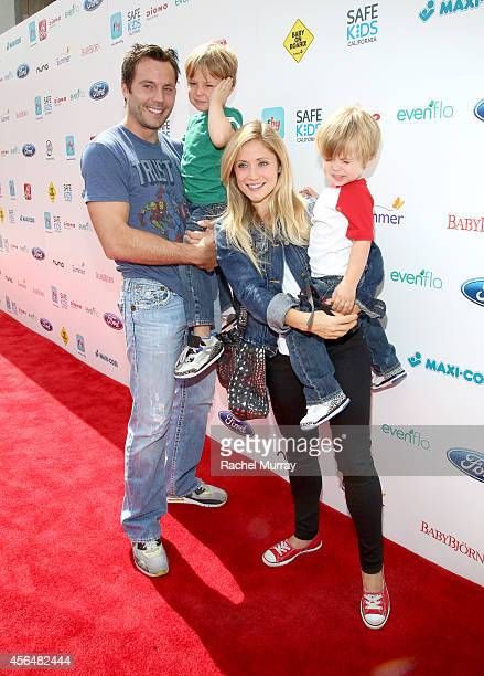 Actress Emme Rylan and family attend Favordby's 3rd annual Red CARpet Safety Awareness Event presented by Evenflo at Skirball Cultural Center on...