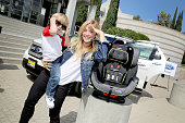 Actress Emme Rylan and son attend Favordby's 3rd annual Red CARpet Safety Awareness Event presented by Evenflo at Skirball Cultural Center on...
