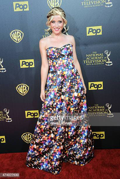 Actress Emme Rylan arrives for The 42nd Annual Daytime Emmy Awards held at Warner Bros Studios on April 26 2015 in Burbank California